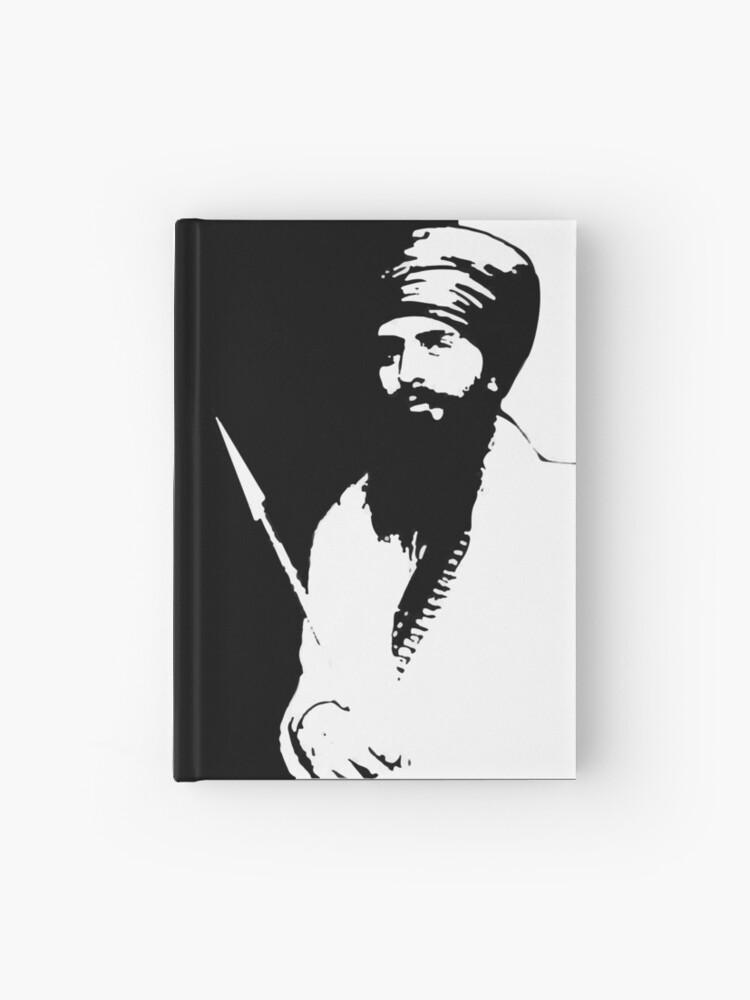 Sant Jarnail Singh Bhindranwale Black White Hardcover Journal By Inkstyl Redbubble