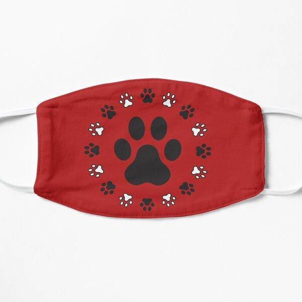 Dog FootPrint Pattern Flache Maske