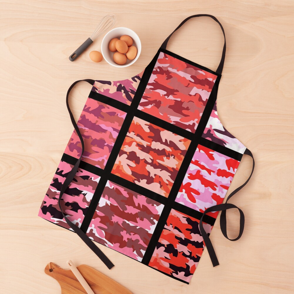 Funky Unique and Girly Pink Camo Feminine Print Apron