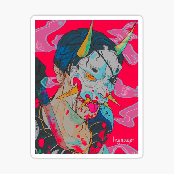 Hannya Man Sticker