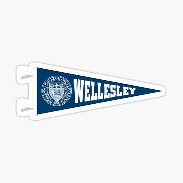Wellesley Pennant Sticker