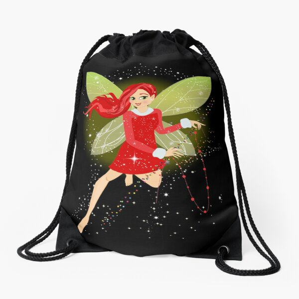 Holly In A Fairy Tale Christmas™ Drawstring Bag