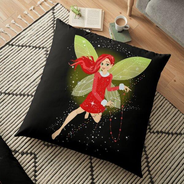 Holly In A Fairy Tale Christmas™ Floor Pillow
