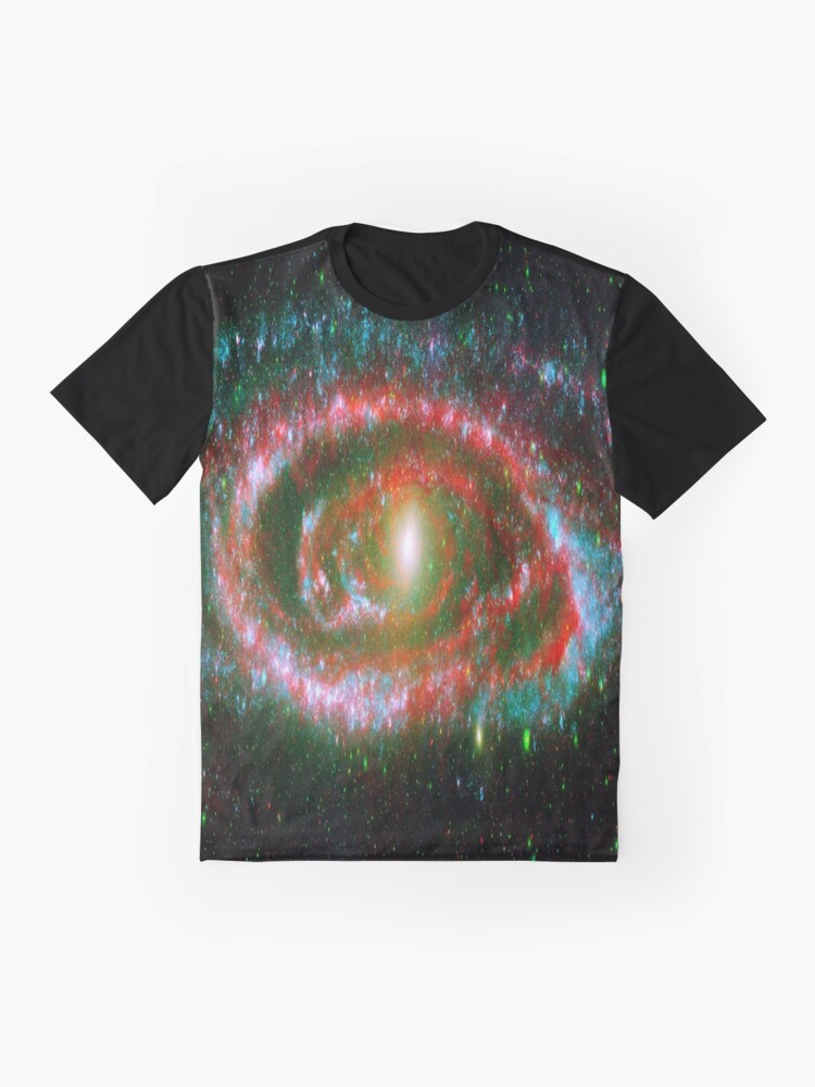 Alternate view of Red Galaxy Swirl Space Art Photography  Graphic T-Shirt