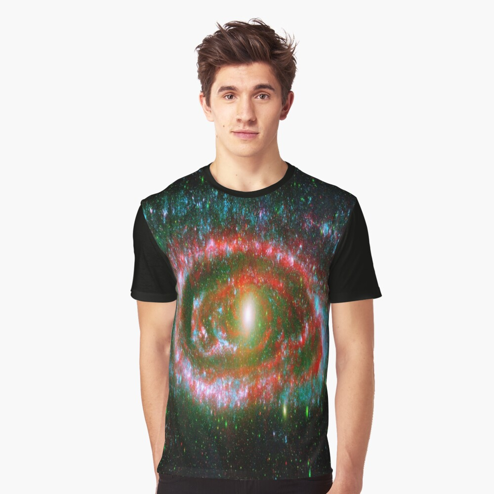 Red Galaxy Swirl Space Art Photography  Graphic T-Shirt