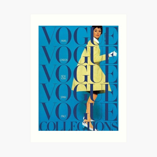 vogue vintage aesthetic Art Print