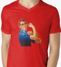 Rosie the Riveter Men's V-Neck T-Shirt