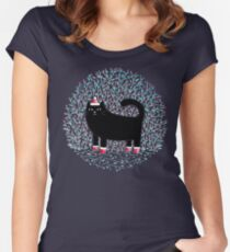 Meowy Christmas Women's Fitted Scoop T-Shirt