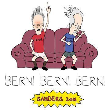 Bern! Bern! Bern! Bernie Sanders 2016 by baridesign