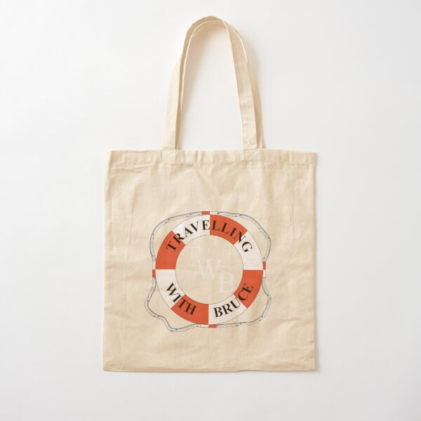 Travelling with Bruce Life Bouy Logo Cotton Tote Bag