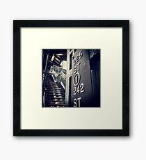 225th Street, N.Y.C Framed Print