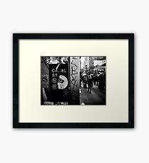 Canal Street, N.Y.C Framed Print