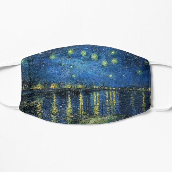 Painting Starry night over the Rhône by Vincent van Gogh Flat Mask