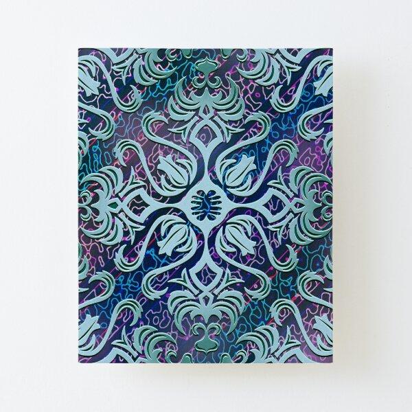 Funky Esoteric Meditation Pastel Mandala Floral Print Mounted Print by Pamela Arsena