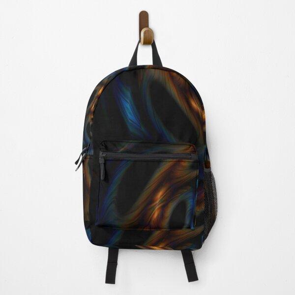 Orange and Blue Spiral Backpack