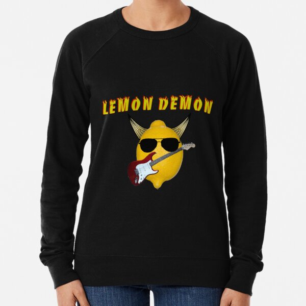Lemon Demon - Rock- Black Shades  Lightweight Sweatshirt