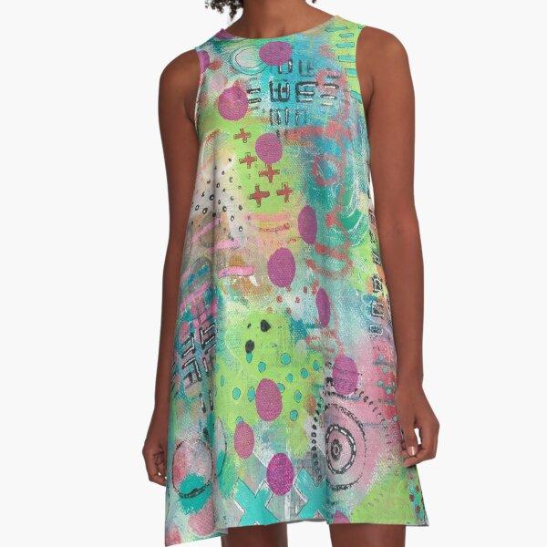 Pink Dots A-Line Dress