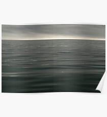 Calm Grey Ocean Poster