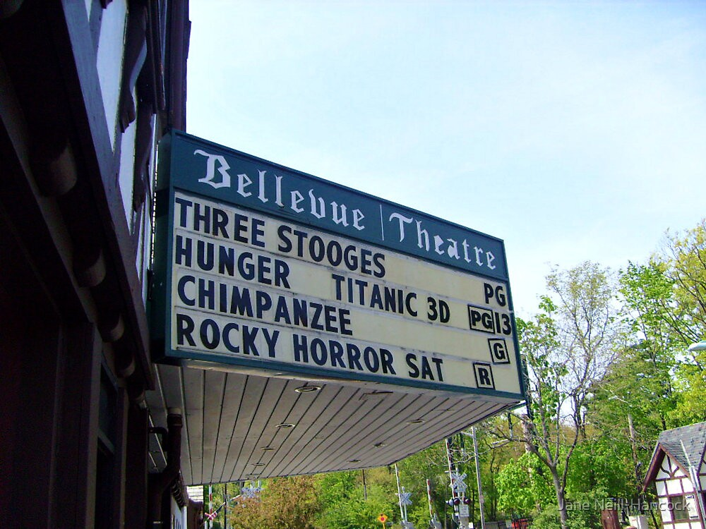 The Bellevue Theater, Upper Montclair NJ by Jane Neill-Hancock
