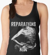 REPARATIONS NOW BATTERED SLAVE BACK SHIRT. (DARK) Women's Tank Top