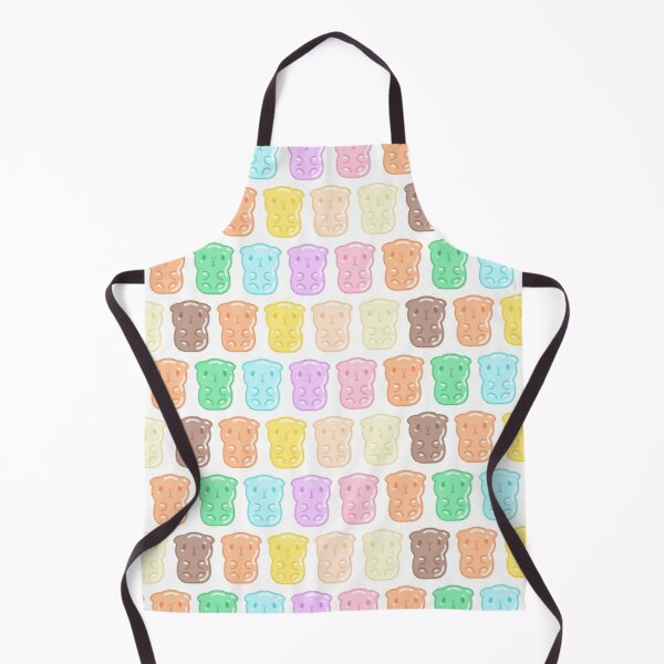 Rainbow Gummy Candy Guinea Pigs Pattern  Apron