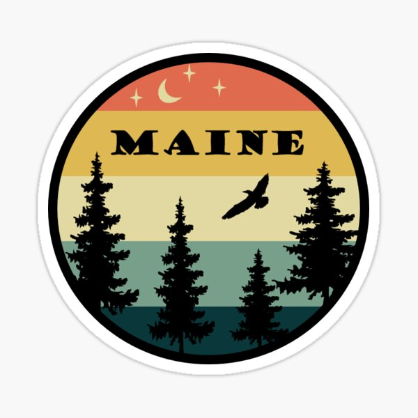 Retro Maine Sticker Sticker