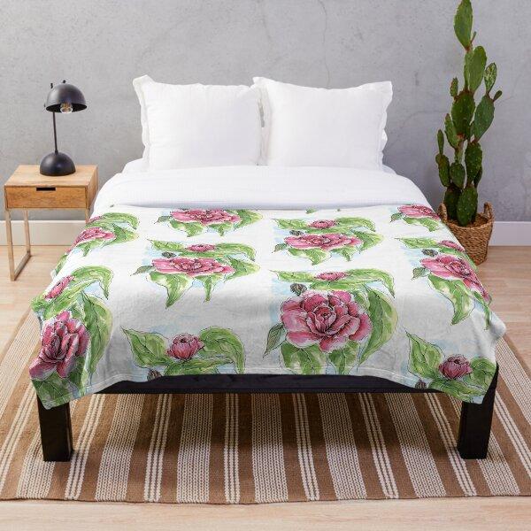 Camellia Throw Blanket