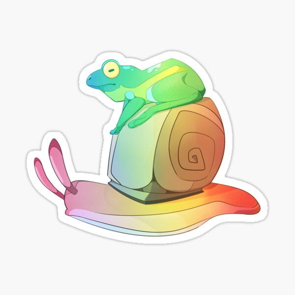 Frog and Snail - Rainbow Sticker