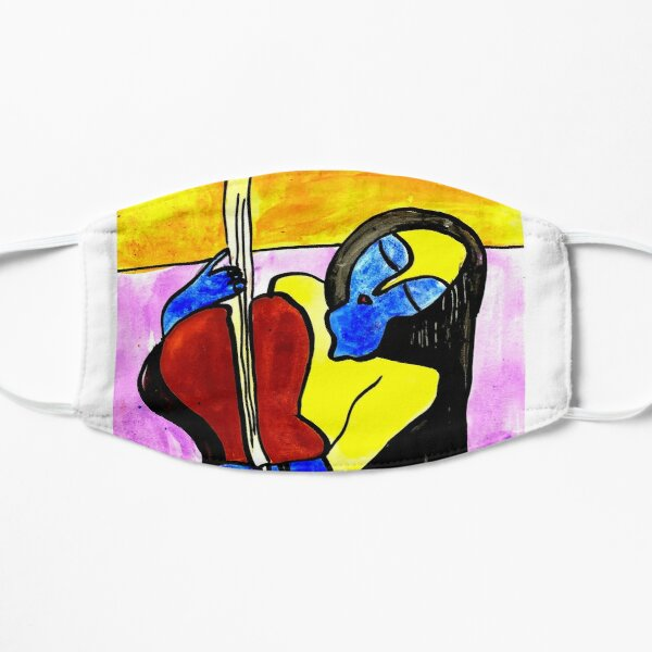 girl with a guitar Mask