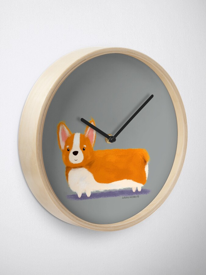 Alternate view of Corgi Clock