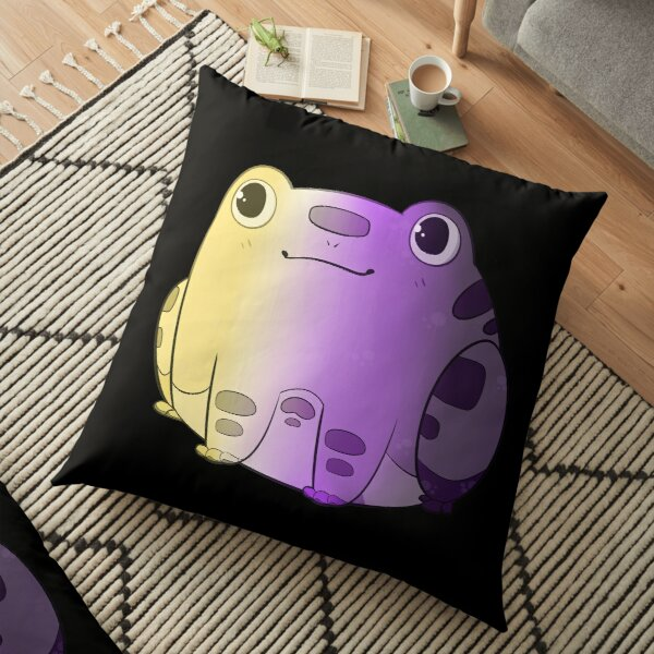 Chibi Frog Sitting - NB Flag Floor Pillow