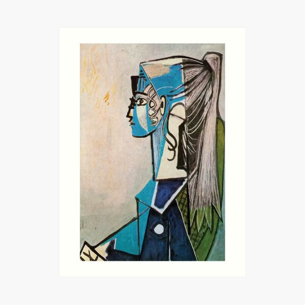 Pablo Picasso | Portrait of Sylvette David in Green Chair Art Print