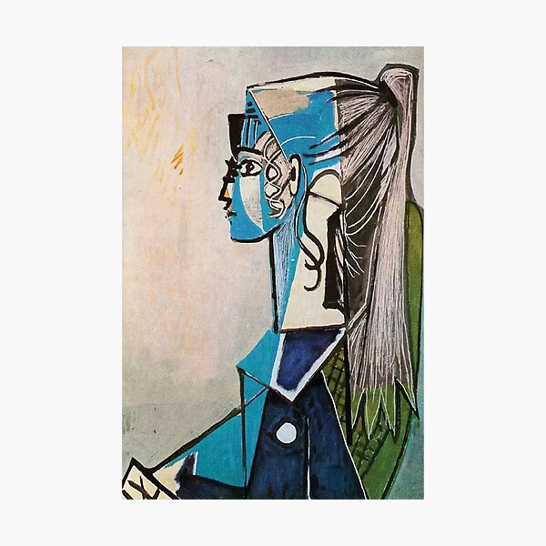 Pablo Picasso   Portrait of Sylvette David in Green Chair Photographic Print