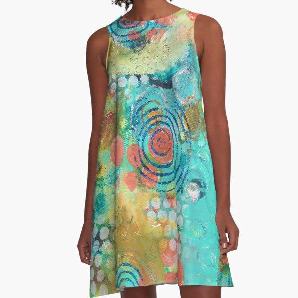 Coral Bubbles A-Line Dress