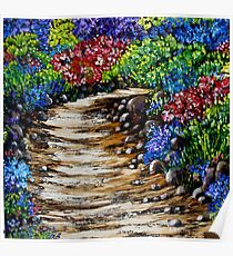 Wildflowers Oil Painting Poster