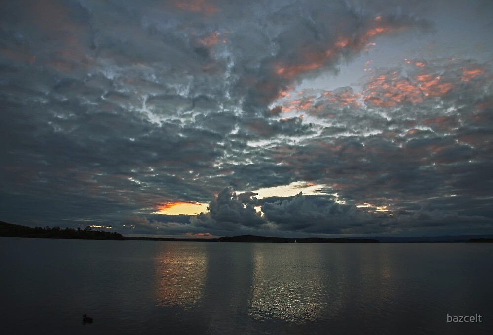 Cotton Wool Clouds and Sunset by bazcelt