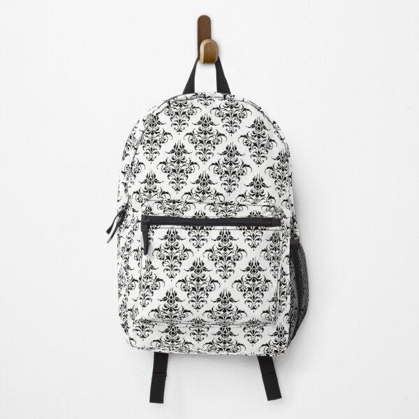 Damask Pattern | Black and White | Vintage Patterns |  Backpack