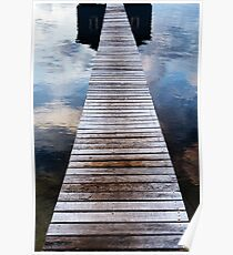 Sunrise at the Boat Shed Poster