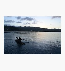 Jamaican Bamboo Raft Photographic Print