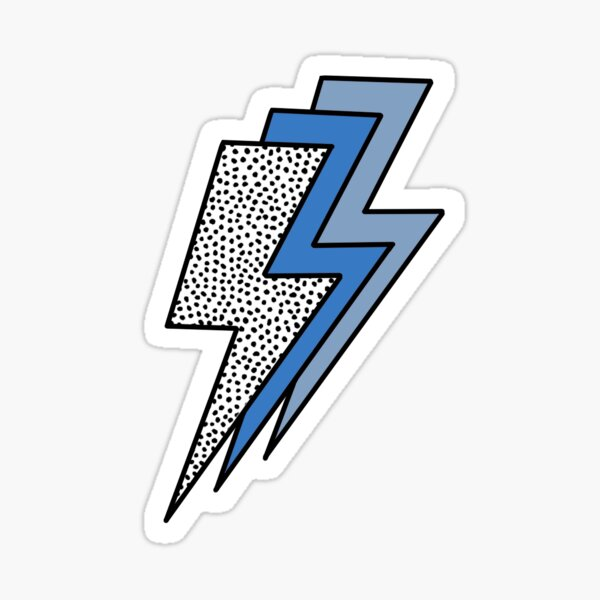 Lightning bolt sticker Sticker