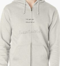 The road goes ver on and on Zipped Hoodie