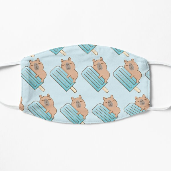 capybara and blue ice pop  Mask