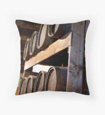 Wine Casks Throw Pillow