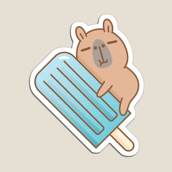 capybara and blue ice pop  Magnet
