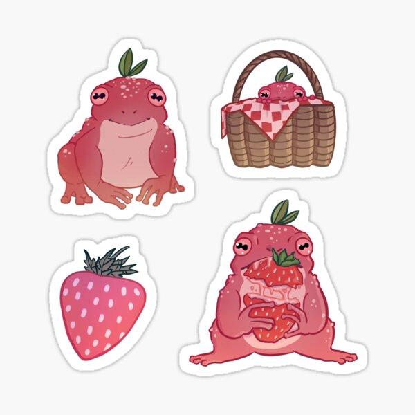 Strawberry Frog Sticker