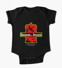Dinosaurs on a Spaceship One Piece - Short Sleeve