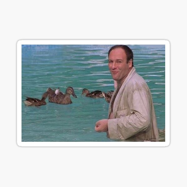 Tony Soprano with Ducks sticker Sticker