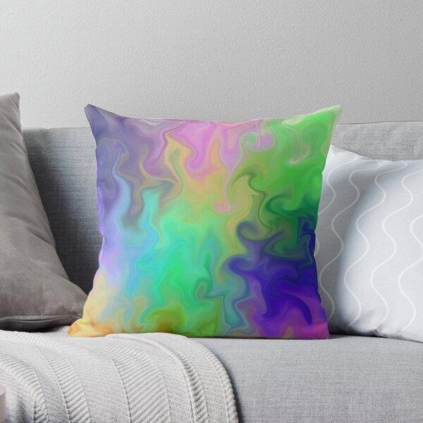 Twirl in Colour Throw Pillow