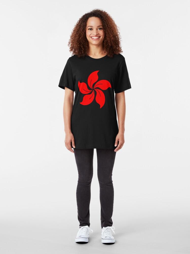 Alternate view of Oriental Flower Slim Fit T-Shirt