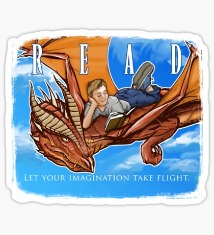 Imagination Take Flight Sticker